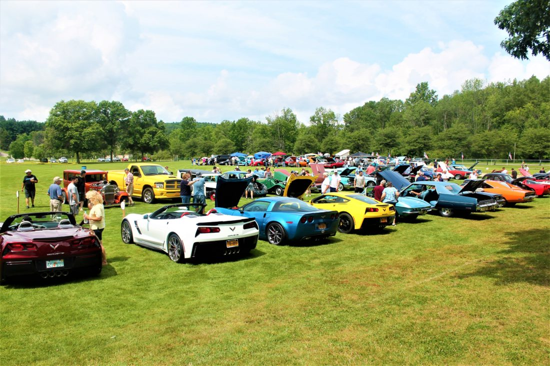 Hundreds gathered at Bergman Park in Jamestown on Sunday for the 34th World Series of Cars.