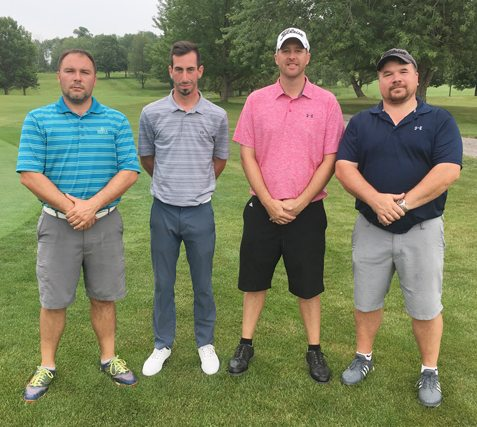 Above are the overall champions and runners-up from Chautauqua Golf Club's Member-Guest. From the left are Shawn Fadale and Matt Cestari, who comprised the winning team; and Jason Anderson and Jamie Paterniti, who finished second. Submitted photo