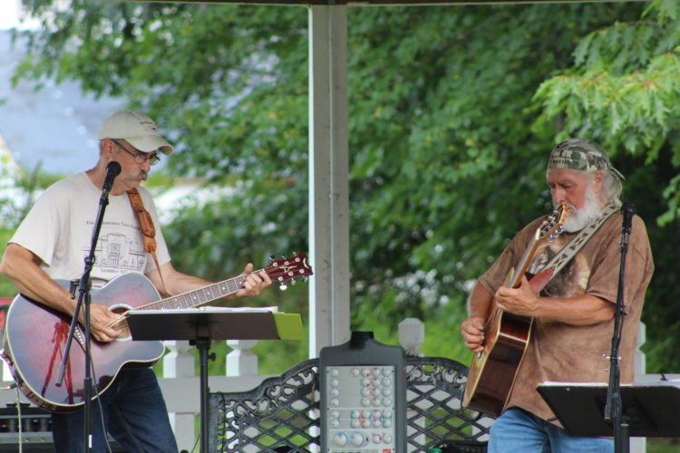 Steel Rails performs in Hallquist Park gazebo for the Sunday In The Park concert.  P-J photo by Rose Mary Carver