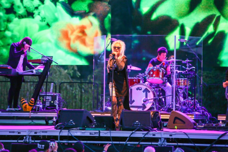 Debbie Harry is pictured performing with Blondie at Niagara County's Artpark on Tuesday, July 25. P-J photo by Chris Chapman
