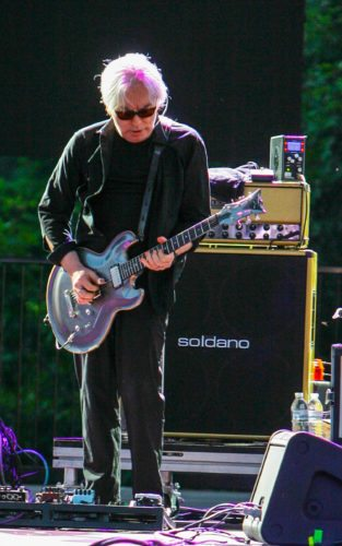 Blondie's Chris Stein is pictured performing at Art Park Tuesday. P-J photo by Chris Chapman