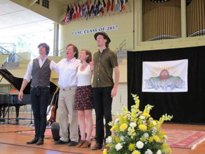 "WRFA-LP 107.9 FM's ""Rolling Hills Radio"" held the live taping of its season finale — featuring guest artists Matt Nakoa and The Honey Dewdrops — Sunday at the Chautauqua Institution Amphitheater. P-J photo by Gavin Paterniti"