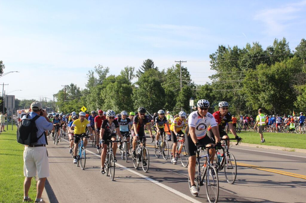 Riders are pictured at the 2016 Chautauqua Gran Fondo charity cycling event. This year's GranFondo will be held Aug. 26.  Submitted photos