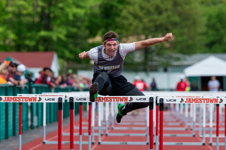 Clymer/Sherman/Panama's Justin Svetz finished fifth in the Division II pentathlon at the New York State Public High School Track & Field Championships this spring. P-J file photo