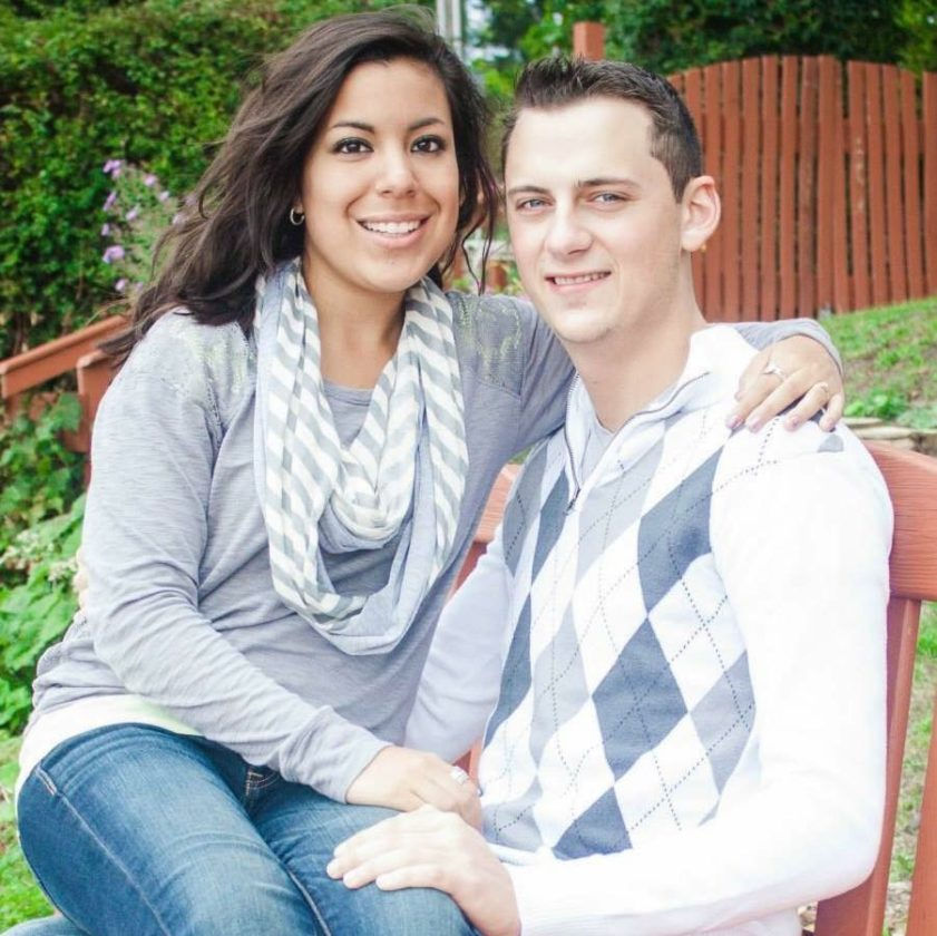 Chelsea Gardner is pictured with her husband, Sean.
