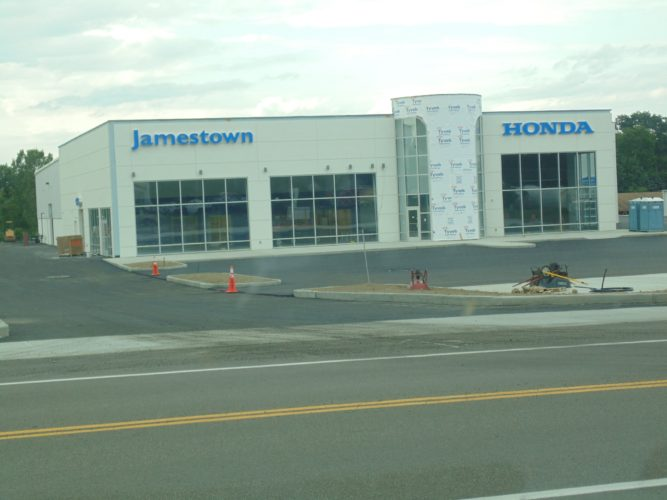 The Honda dealership building is up on East Fairmount Avenue in Lakewood.  P-J photo by  Jimmy McCarthy