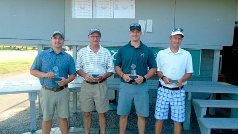 Chris McKinley, Adam McKinley, Jordon Marsh and Matt Fuller fired a 60 to win the seventh annual Charity Golf Classic at Chautauqua Golf Club. Submitted photo