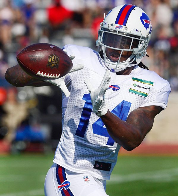 The Buffalo Bills shook up their roster with two separate blockbuster trades Friday, dealing starting receiver Sammy Watkins, above, to the Los Angeles Rams and acquiring receiver Jordan Matthews from Philadelphia in exchange for cornerback Ronald Darby. The Bills acquired cornerback E.J. Gaines from the Rams. AP photos