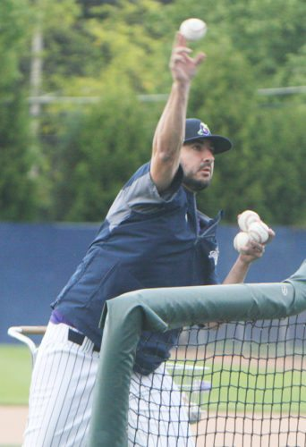 Under CoachAnthony Barone's tutelage, the Jamestown Jammers ended the summer ranked near the top of most statistical categories, and boasted the league's lowest team ERA (3.29) and best fielding percentage (.964). At the plate, Jamestown was second out of the 13-team league in on-base percentage (.407), and third in batting average (.286), runs scored (343) and hits (471). Perhaps most impressive, the Jammers were the only team in the PGCBL to register more walks (312) than strikeouts (310). P-J photos  by Scott Kindberg