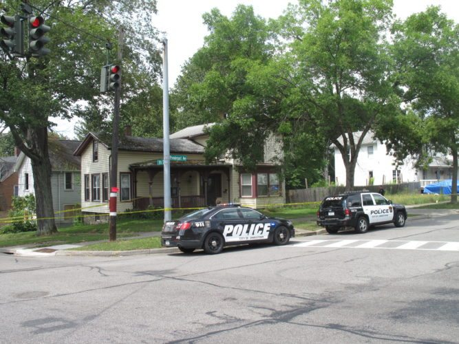 A man was taken into custody Thursday after a shot was fired.  P-J photo by A.J. Rao