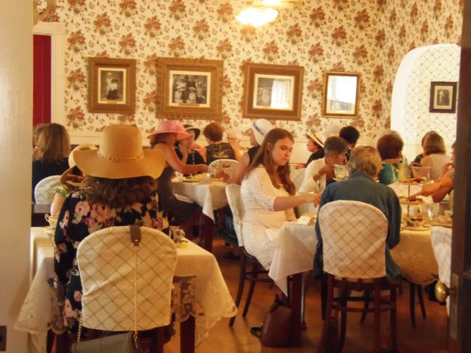 The Hotel Lenhart in Bemus Point opened their doors to visitors for a Victorian tea, celebrating the history of the hotel and the era it came from.  P-J photos by Katrina Fuller