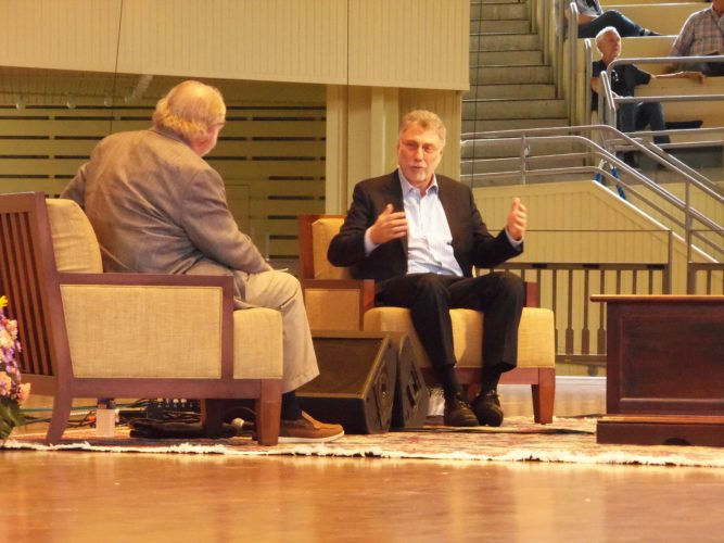 Marty Baron, executive editor of the Washington Post, discussed changes in journalism at Chautauqua Institution on Friday. P-J photo by Katrina Fuller