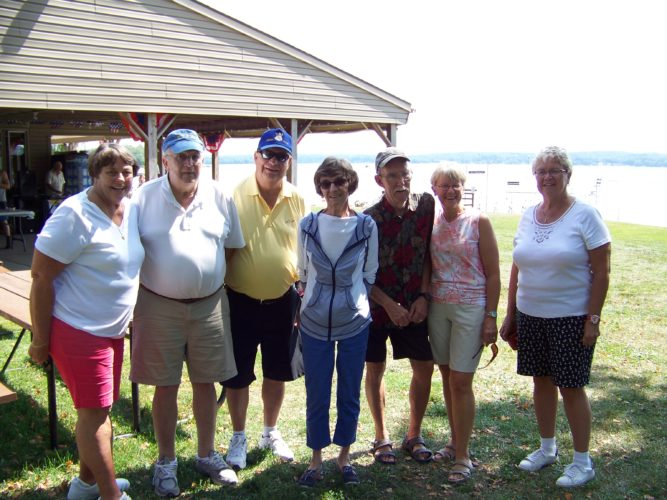 Members of the Vikings South are pictured. The group has held a chicken barbecue picnic in North Port, Fla., and donated proceeds to the Ingjald Viking Lodge in Maple Springs.