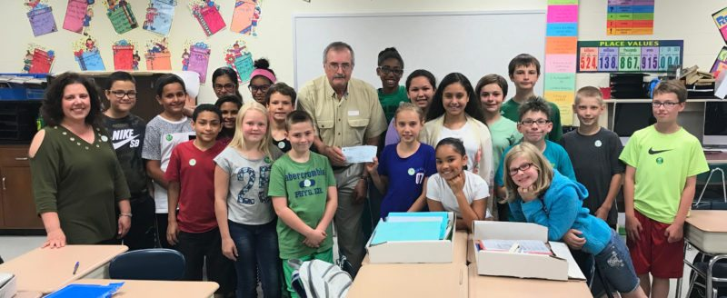 Jefferson Middle School fifth-graders in Gina Hess' class raised $1,000 for the Mental Health Association. Submitted photo