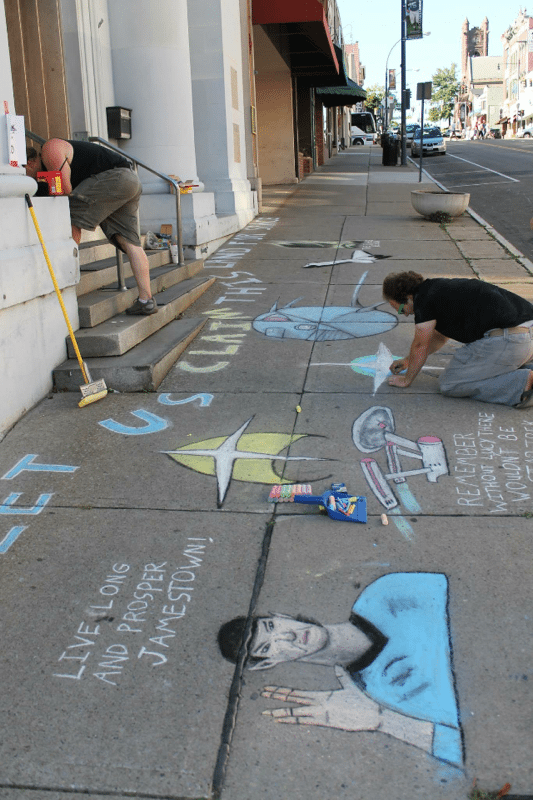Jamestown Now will present its sixth annual Great Jamestown Chalk Walk, in conjunction with the Jamestown Renaissance Corporation and Michaels craft store in Lakewood, on Saturday, Sept. 9, along the Third Street corridor in downtown Jamestown from 8 a.m. to 6 p.m. Submitted photo