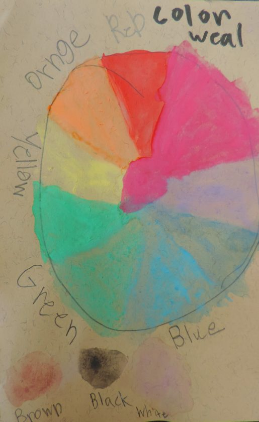 Summer campers created colors wheels in Audubon's art camp session.  Photo by Katie Finch