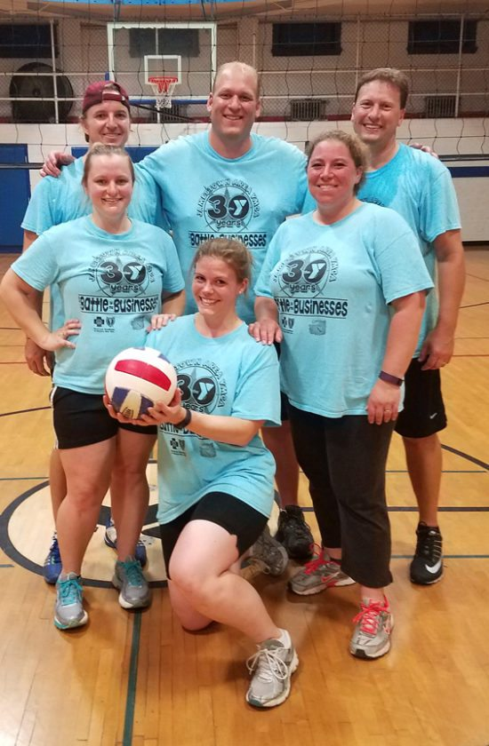 Above are members of the Libera/SKM volleyball team, which captured the Small Division championship on Monday. Submitted photo.