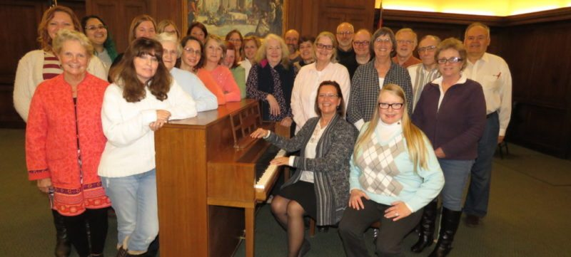 The Community Music Project's Chautauqua Chamber Singers and Jamestown Choral Society ensembles will celebrate their 40th and 35th anniversaries next year. Pictured is the current incarnation of the Chautauqua Chamber Singers.