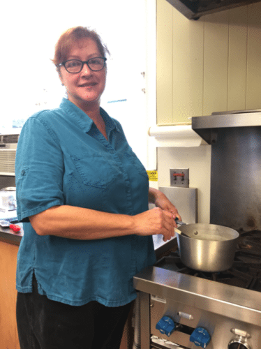 Marvin House Event Coordinator and House Chef Mindy Sandberg prepares for the Open House.