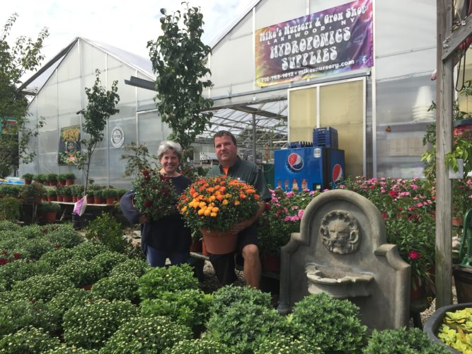 Lakewood Memorial Library would like to thank Mike Krauch, of Mike's Nursery, for his generous donation of plants for our first ever Fall Fundraiser. He is pictured above with Mary McCague, Library Board of Trustees President.