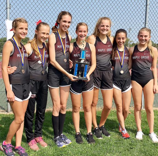 The Maple Grove boys and girls cross country teams captured the Wayne Eagle Cross Country Invitational on Saturday. The Red Dragons competed in Division 4. Submitted photo