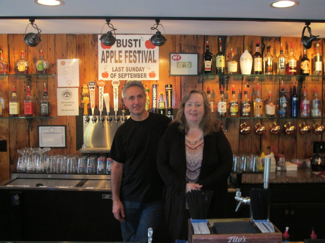 Dave and Maryann Attard, owners, are pictured at Ye Olde Ed-N-Jen's Busti's Tap House in Busti, which will hold an all-day grand opening celebration Friday. P-J photo by Gavin Paterniti