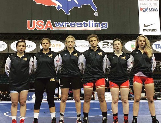 Mika Walters, far left, is pictured with the rest of the New York All-Americans following the Fargo National Championships. Submitted Photo