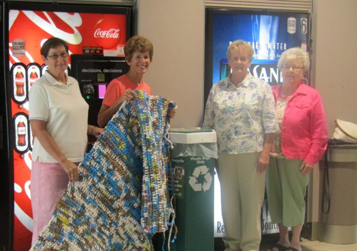 From left are Kathy Carlson, Kristie Bloomquist, Ginnie Sloan and Marilyn Erickson.  Photo by Cynde Johnson