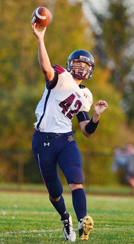 Franklinville/Ellicottville quarterback Brock Blecha
