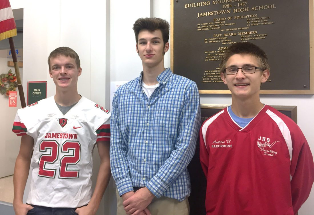 Pictured are Andrew Pumford, Andrew Roof and Carrson Widen.