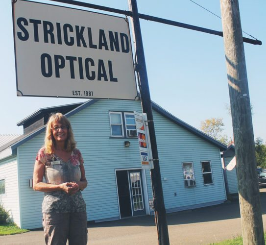 Barbara Jean stands outside Strickland Optical Lab, the business she and her husband created 30 years ago. P-J photo by Jordan W. Patterson