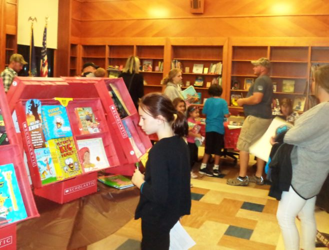 The book fair at Ripley Elementary School's open house was highly successful.