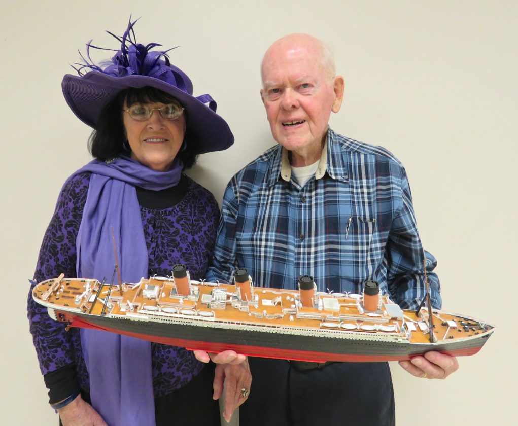 The Randolph Historical Society hosted guest speakers Bob Sutehall and Lorraine Cole, who presented the story of Sutehall's uncle who was aboard the RMS Titanic on its maiden voyage in April 1912. P-J photo by Deb Everts