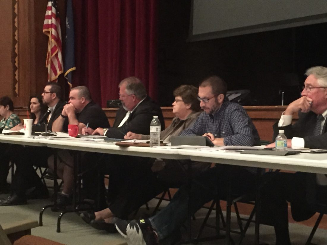 Concerns over bullying were heard Tuesday by the Jamestown school board.  P-J photo by Jordan W. Patterson