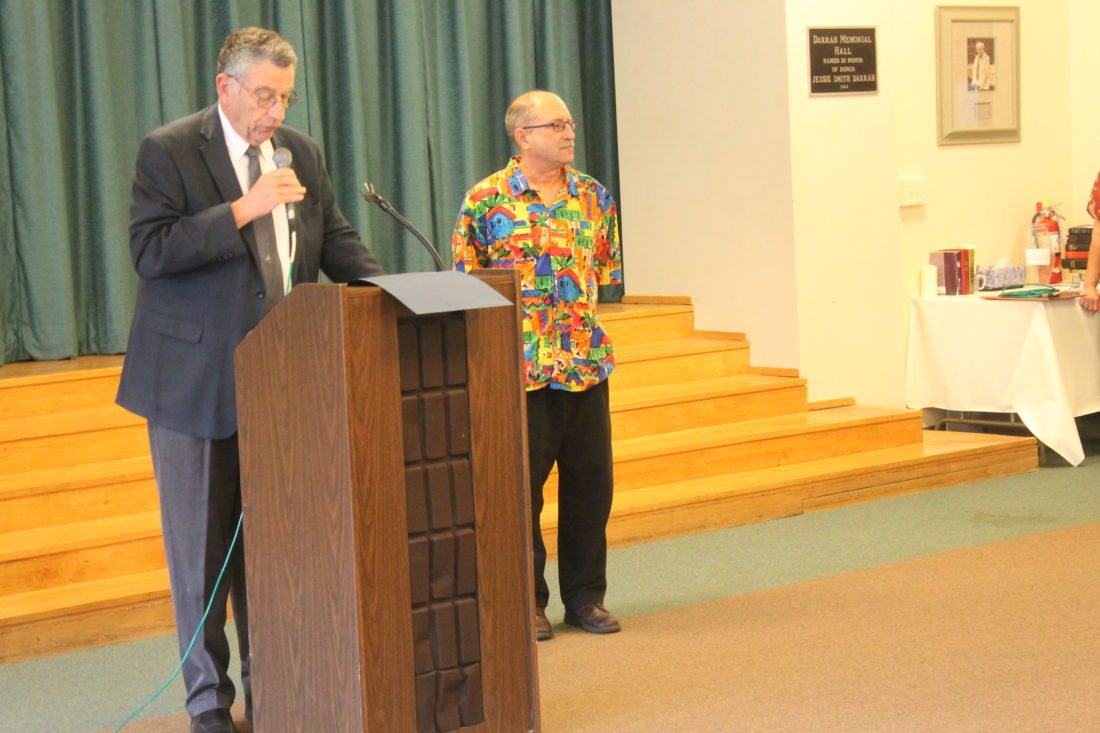 County Executive Vince Horrigan delivers a speech during Chautauqua Adult Day Services' Recognition of Hispanic Outreach celebration Wednesday. Horrigan provided Executive Director Frank Bercik with a proclamation. P-J Photo by Jordan W. Patterson