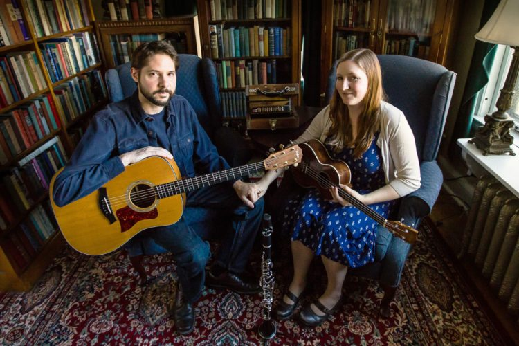 """Trinity Guitars' """"Back Room Radio Hour"""" will feature performances by The Skiffle Minstrels and the folk duo Mark and Raianne during the live taping of its 30th episode tonight beginning at 7 p.m. Submitted photos"""