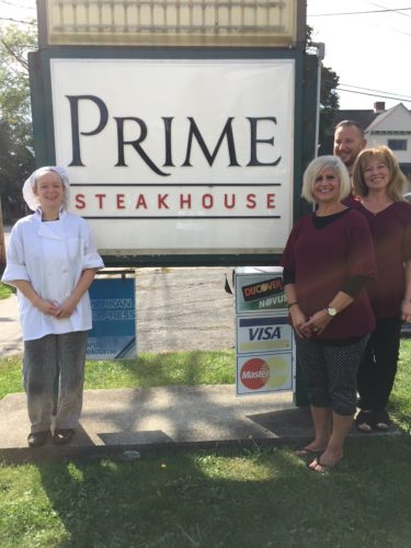 Camaraderie, respect and teamwork of the staff makes for a pleasant dining experience at Prime Steakhouse. Pictured, from left, are Head Chef Samantha Harrower; owner Debbie Hasson; bartender Jeff Greenwald; and server Darlene Soldano. Photos by Beverly Kehe-Rowland