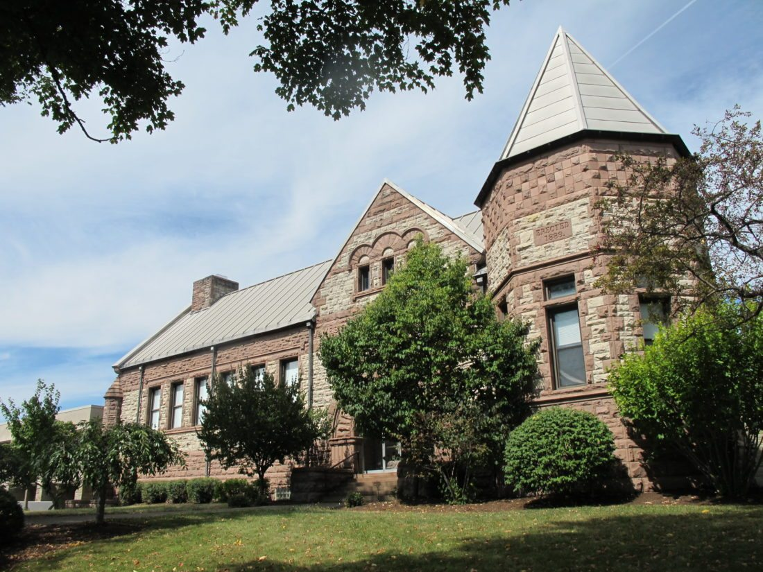 The James Prendergast Library, located at 509 Cherry St., could possibly receive a 50 percent cut in funding from the city of Jamestown in 2018. The library received a 71 percent cut in funding from the city this year. P-J photo by Dennis Phillips