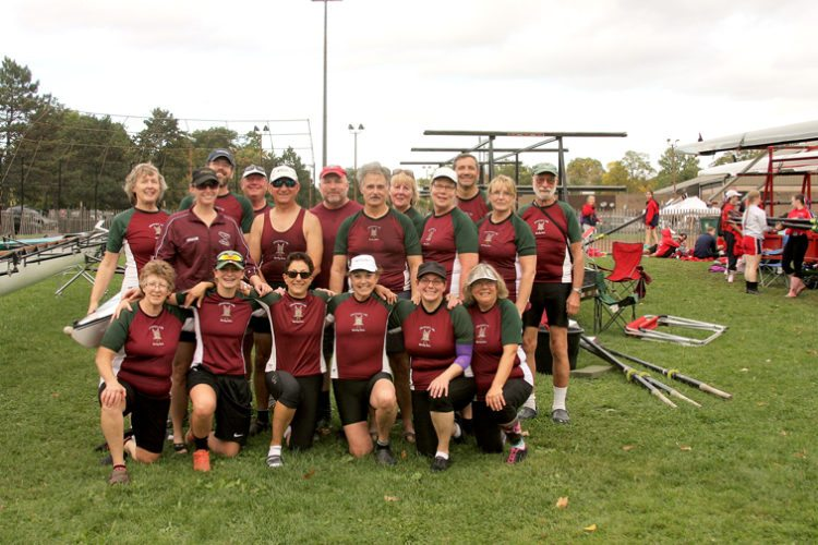 CLRA's team is pictured at Head of the Genesee regatta last Sunday. Pictured, in front, from left, are: Maureen Mack, Alexis Barron, Diane Paterniti, Kathleen McCarthy, Martha Abers and Carol Samuelson. In the middle are: Ali Odrzywolski, Jim Odrzywolski, Scott Montgomery, Linda Smith and Shirley Johnson. In back are: Jan Odrzywolski, Nathan Abers, Mickey Sorenson, Mike Jones, Doreen Loll, Paul Boger and Charlie McChesney. Photo by Jim Odrzywolski