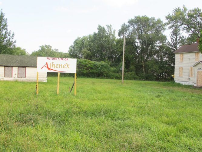 Groundbreaking on the Athenex location has been delayed until the first of the year. However, activity continues at the location to prepare for the groundbreaking. P-J file photo