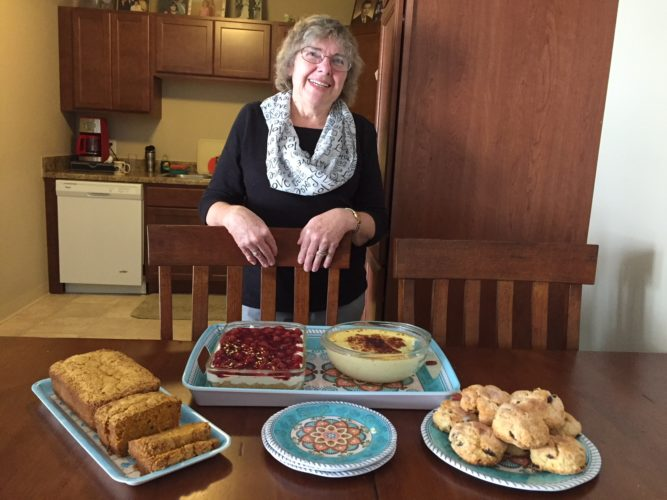 Ann Powers enjoys making desserts for the residents in her building. Photos by Beverly Kehe-Rowland