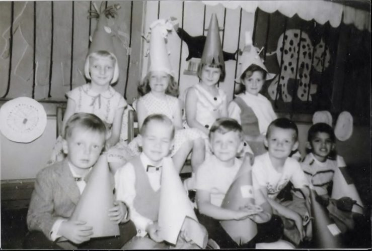 Class photo from Fletcher Elementary School, 1956-57. Archive photo