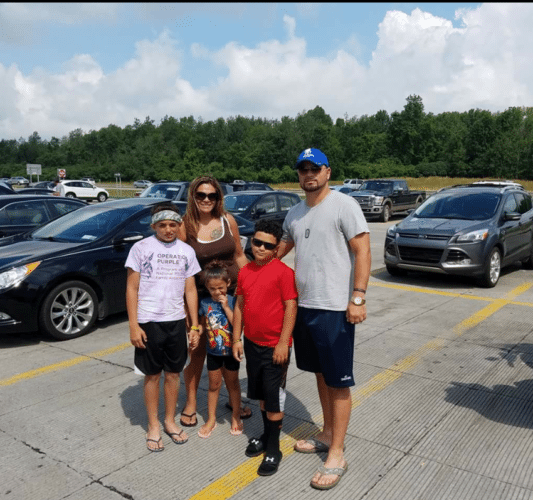 Joshua Cosme is pictured with his family including his wife, Elizabeth, and their children, Aliana, Christopher and Anthony. Submitted photos