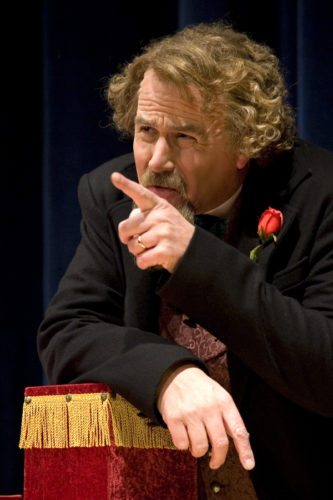 Mike Randall is pictured as Charles Dickens. Randall will perform a one-man portrayal of Dickens reading A Christmas Carol on Nov. 18 at the Spire Theater in Jamestown.