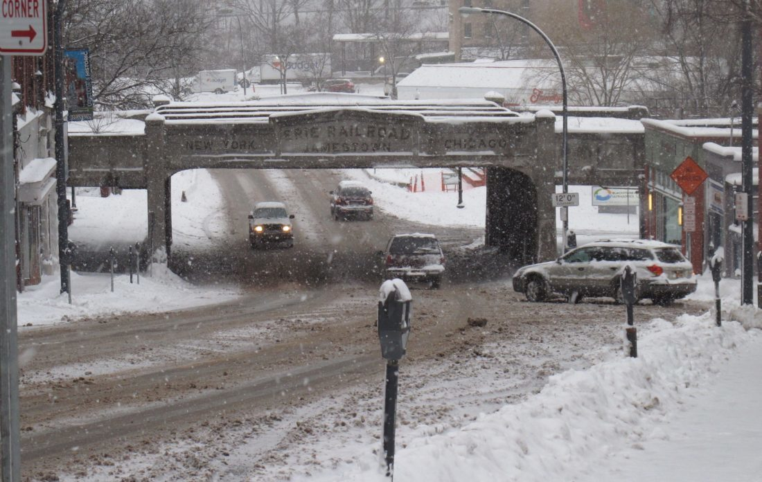The National Weather Service in Buffalo said the Jamestown area could see its first snowfall of the year later this afternoon. On average, the city area sees about 8.2 inches of snow in November.  P-J file photo