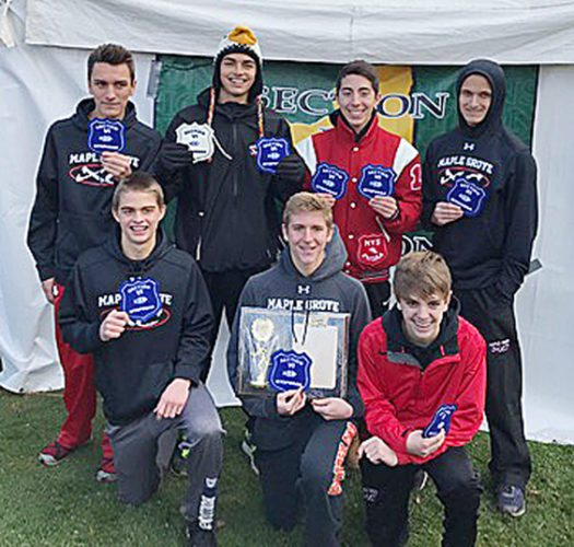 The Maple Grove boys cross country team will compete at the NYSPHSAA Championships on Saturday at Wayne High School. Submitted photos