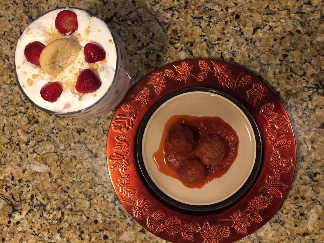 "Nana's Meatballs was Shari Jamieson's grandmother's recipe. The Strawberry Sugar Cookie Trifle recipe was originally written to be assembled in a 9"" x 13"" pan."
