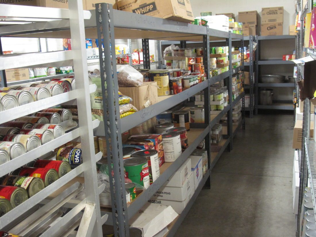 Area organizations are gearing up for the holidays, hoping to help those in need of support for Thanksgiving and Christmas. Stocking the shelves, such as these at St. Susan's Center, and having enough volunteer manpower is important for what can be a busy time.  P-J photo by Katrina Fuller
