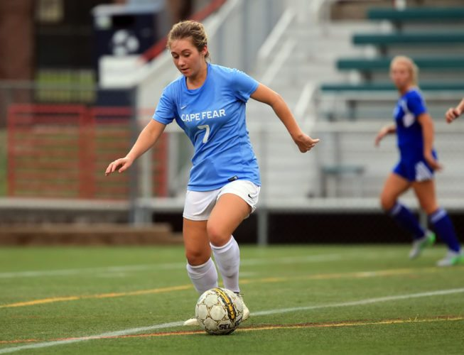 Frewsburg graduate Janessa Annis recently wrapped up her second season at Cape Fear Community College, an NJCAA Division I program in Wilmington, N.C. Photo courtesy of Portraits by Carin