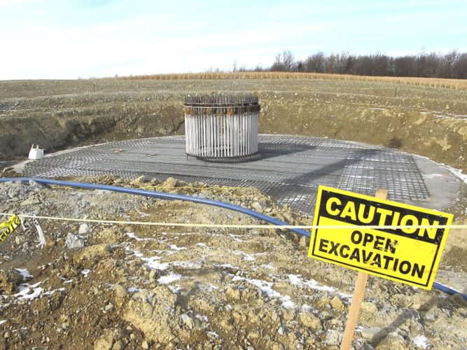 Seen are images from a wind farm construction site off of Center Road in Arkwright. Photo by Damian Sebouhian